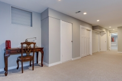 Wide hallway of home basement